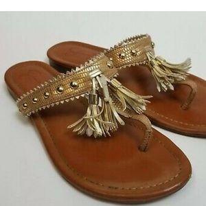 Jessica Simpson Studded Tassel Flip Flop Sandals